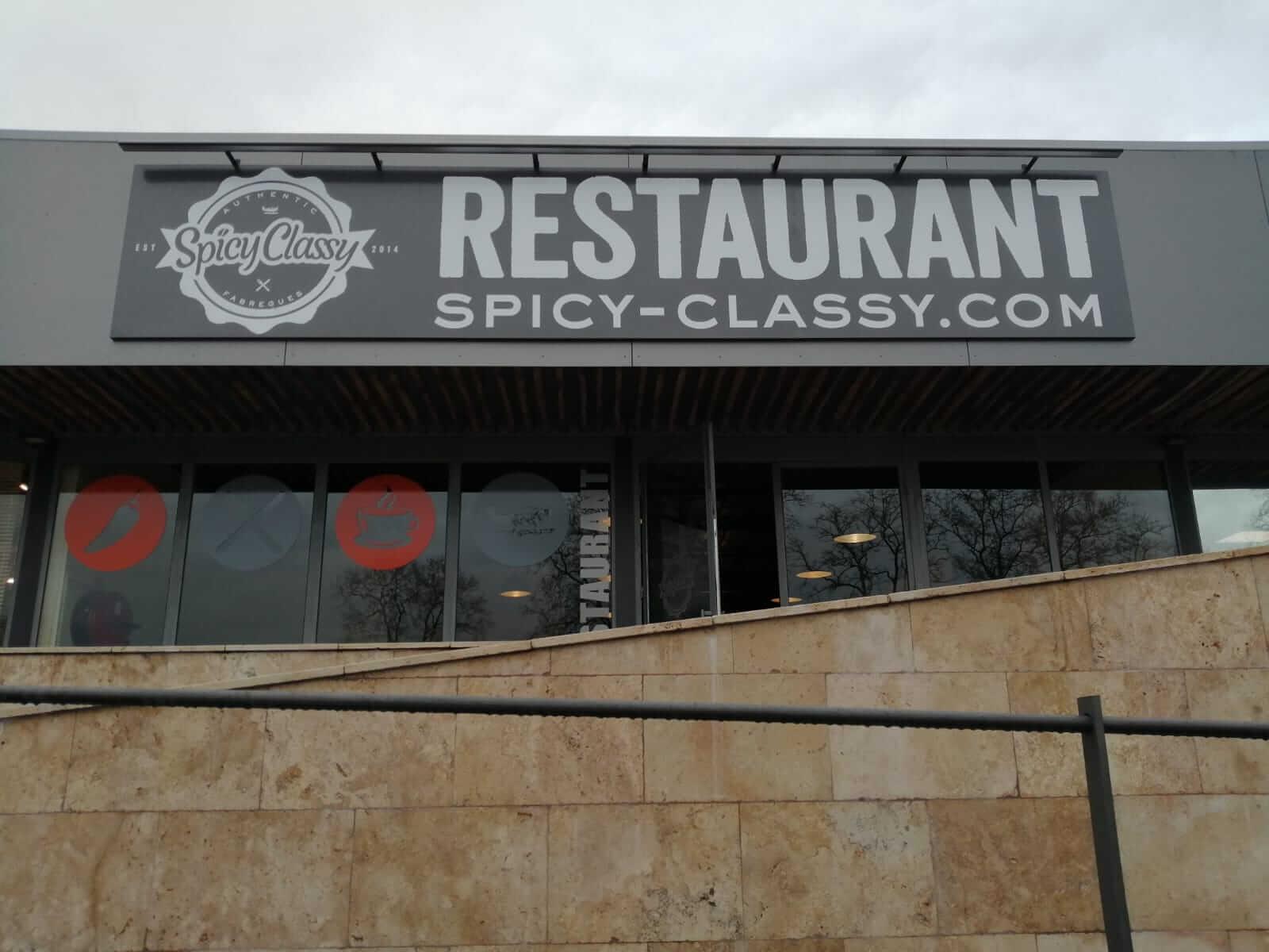 Enseigne impression restaurant